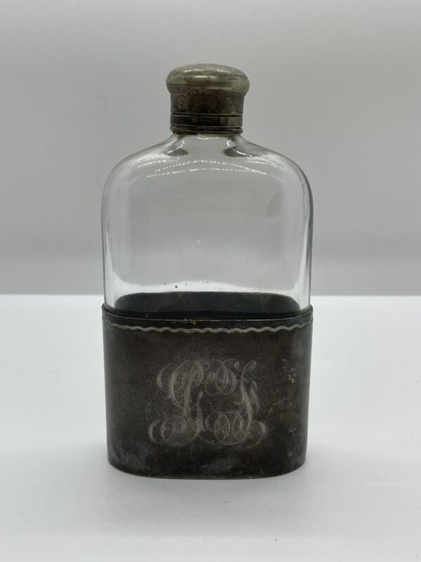 1892 Simpson Hall Miller & Co Silver Flask