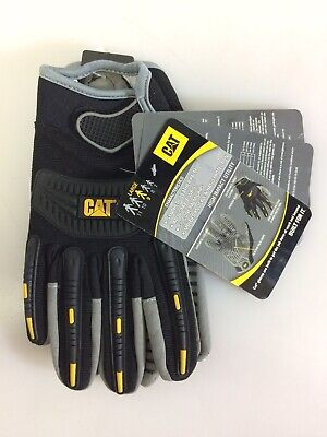 Cat Gloves Cat012218l Black High Impact Utility Work Gloves Large 9