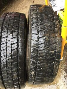 Pair of 225-70-19.5  Continental 14 ply tires