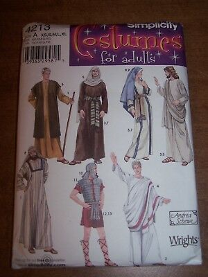 ASSORTED COSTUME SHEPERD (NATIVITY) PATTERN SIMPLICITY #4213 size A XS,S,M,L,XL ](Sheperd Costume)