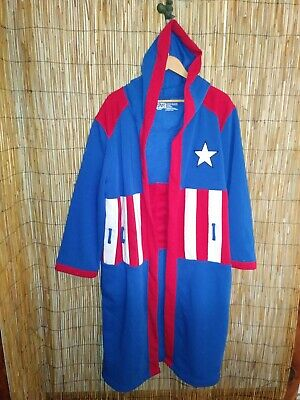 Captain America By Marvel Bathrobe (missing belt)  easy costume l/xl ](Easy Marvel Costume)