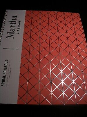 Martha Stewart Spiral Notebook 9 14 X 11 14 In 58 Lined Sheets New With Tags