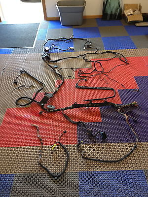 BMW E60 M5 Main WIRE HARNESS INTERIOR TRUNK SECTION CUT WIRES SMG DVD NAVIGATION