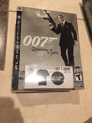 JAMES BOND 007: QUANTUM OF SOLACE ps3 Bundle + T-SHIRT *RARE* NEW/FACTORY SEALED comprar usado  Enviando para Brazil