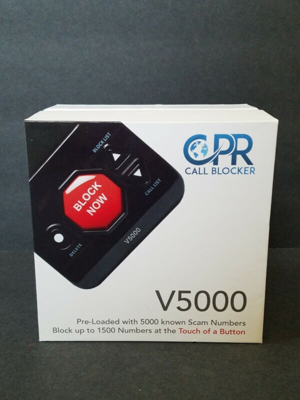 Call Blocker CPR V5000 Landline Block All Robocalls, Nuisance Call, Scam Calls