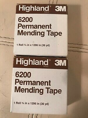 Lot Of 2 Highland Invisible Tape 6200 Roll 34 X 1296