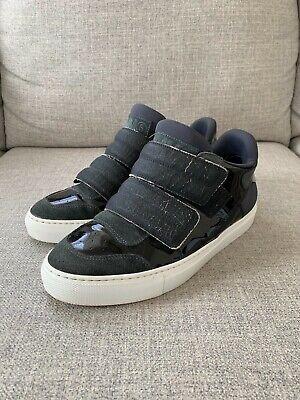 Mm6 Maison Margiela Women's Black Leather Sneakers 100% Leather