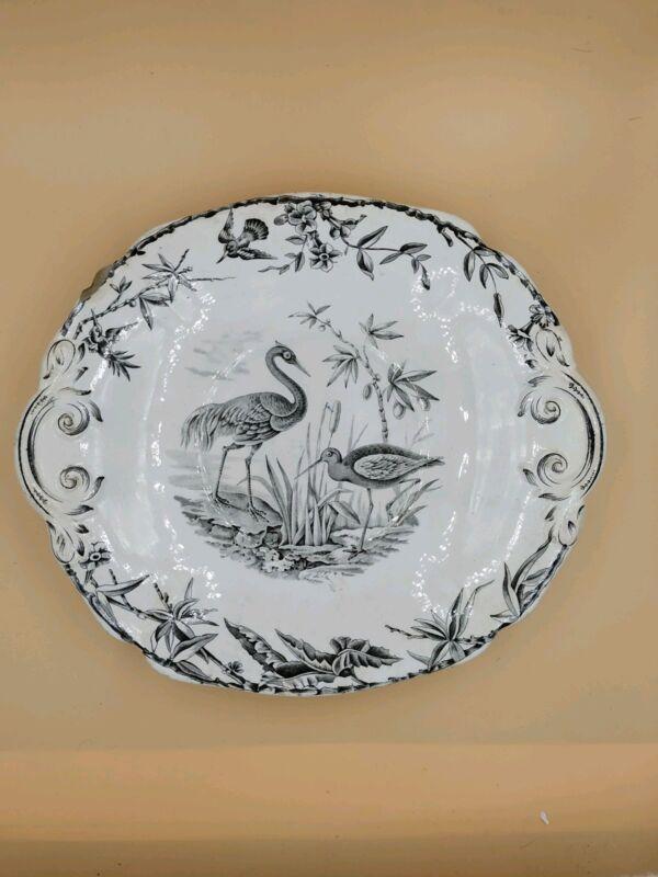 Ridgway Sparks & Ridgway INDUS Aesthetic Transferware Platter c. 1877
