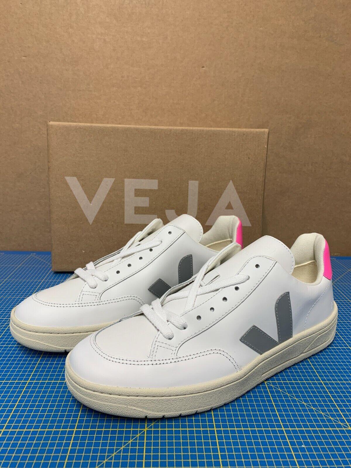 Veja Sneaker V12 Leather Extra White Oxford Grey Sari Grösse: 40