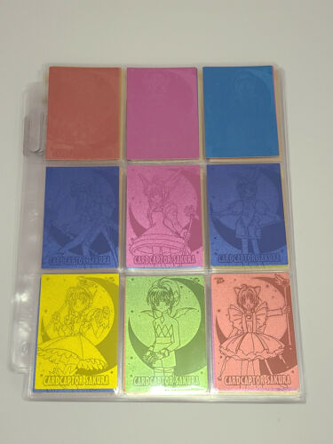 Cardcaptor Sakura Gold Etching Cards, Set 1 + Rainbow Variants (108 Pieces)