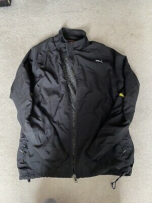 Puma Black Lightweight Hooded Running Jacket. Mens Size Medium