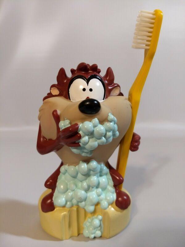 Vtg 1996 Tasmanian Devil Looney Tunes Toothbrush Holder Original Toothbrush