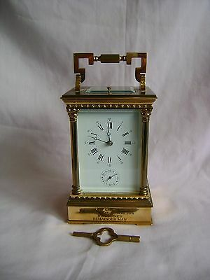 L'EPEE VENITIENNE REPEATER/ALARM CARRIAGE CLOCK  WITH CORINTHIAN COLUMNS + KEY