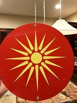 Ancient Macedonia Alexander The Great Symbol Flag Metal Sign