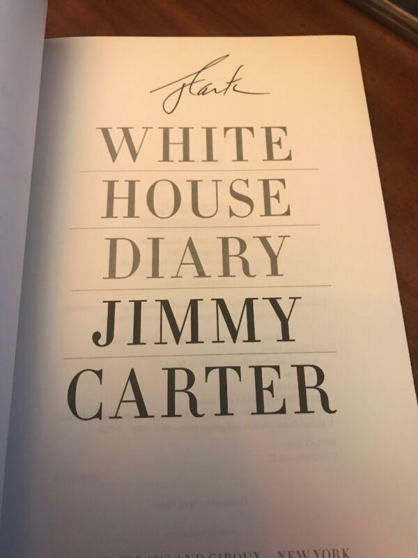 President Jimmy Carter Signed WHITE HOUSE DIARY 1st ed/ 1st Printing