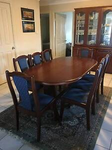 Extendable Dining Room Table with 6 Chairs & Display Unit Tamworth Tamworth City Preview