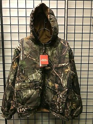 c27f8c1b5858f MASTER SPORTSMAN: REVERSIBLE BROWN DUCK/ SHERBROOKE CAMO JACKET - LARGE -  NWT