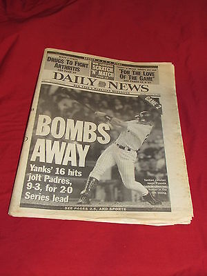 New York Daily News October 19 1998 Full Newspaper Yankees Game 2 World Series