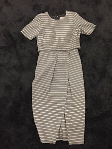 ASOS Grey Stripe Dress - UK8 Carindale Brisbane South East Preview