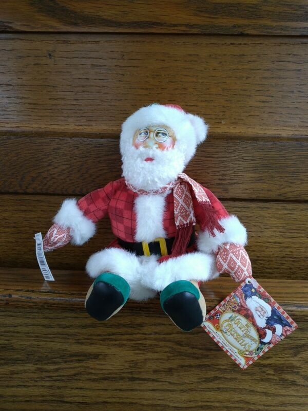 MARY ENGELBREIT ~ PLUSH SANTA DOLL ~ Twas the night before Christmas ~ NWT