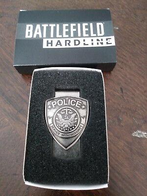 """Battlefield Hardline"" Money Clip Police Badge - New"