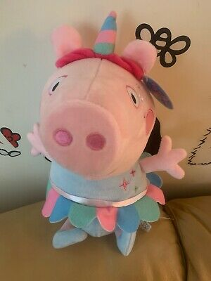 "Best X-mas Gift Peppa Pig Giant 13.5""Tall Unicorn Plush Toy Super"