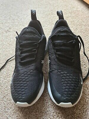 MENS NIKE AIR MAX 270 BLACK KNIT MESH RUNNING ACTIVE SPORTS GYM TRAINERS SIZE 6