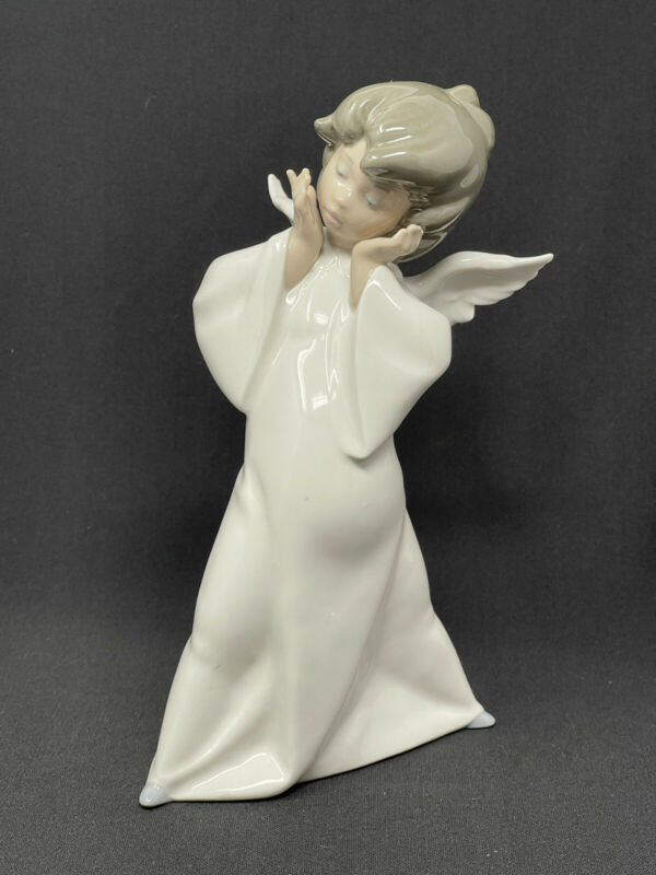 """Lladro Porcelain MIME Angel 8 1/2"""" Figurine Made in Spain # 4959"""