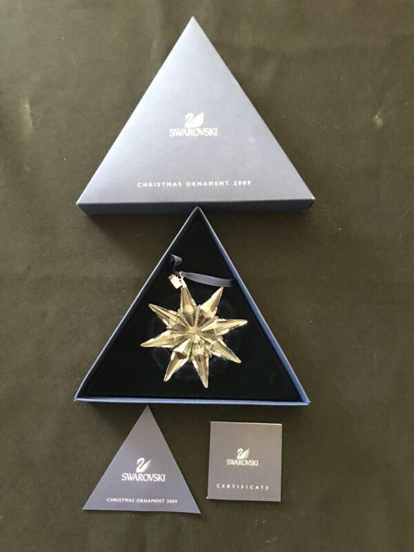 2009 Swarovski Christmas Crystal Ornament, Large Annual Edition.