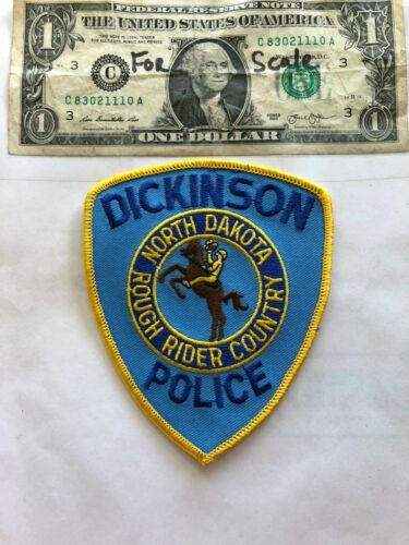 Dickinson North Dakota Police Patch un-sewn in great shape