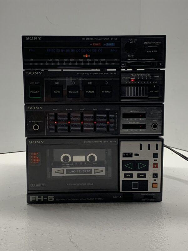 Vintage Boombox Sony FH-5 *No Speakers*