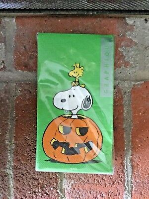 NEW PEANUTS SNOOPY WOODSTOCK NAPKINS HALLOWEEN PKG OF 32 LARGE NAPKINS