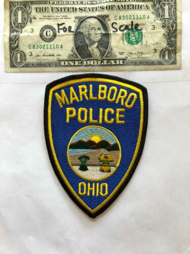 Marlboro Ohio Police Patch un-sewn mint shape