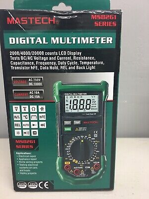 Mastech Ms8261 Auto Rangedigital Multimeter Sound Light Alarm Fusefrequency Test