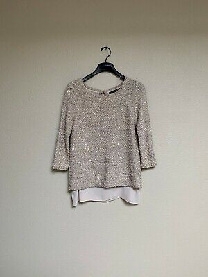 Zara Women Embroidered Studded Top Size M