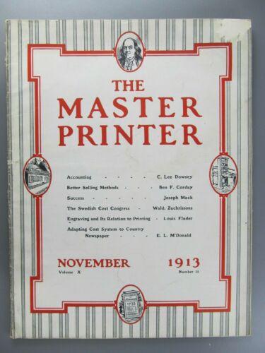 The Master Printer, Vol. 10, No. 11, November, 1913