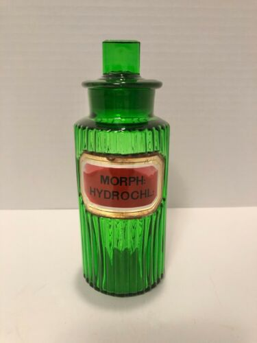"Green Poison Apothecary Bottle ""Morph: Hydrochl"""