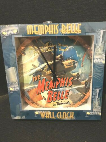 """MEMPHIS BELLE 12"""" WALL CLOCK VANDOR WAR MILITARY ARMY MOVIE MOTION PICTURE FILM"""