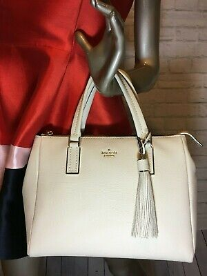 Soft Leather Large Satchel (NWT Authentic KATE SPADE naomi Soft Leather LARGE Satchel  white stone )