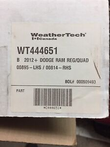 Doge ram tapis weather tech 2012 et +