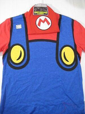 New Nintendo Super Mario T Shirt & Beanie Combo Set Size Medium Mens Hat Costume - Hat T Shirt