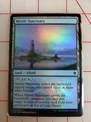 Mystic Sanctuary FOIL Throne of Eldraine NM Land Common MAGIC MTG CARD