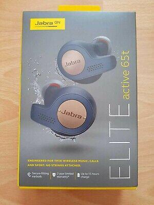 Jabra Elite Active 65t Headphones - Copper Blue