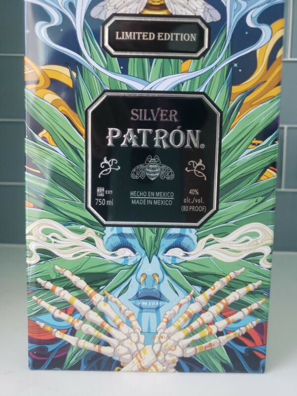 PATRON SILVER TEQUILA AGAVE TIN LIMITED EDITION BEE PINA MEXICAN ART AZTEC 2020