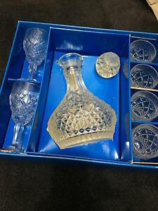 Crystal sherry set, Bohemia 7 piece. 24% Taylors Lakes Brimbank Area Preview