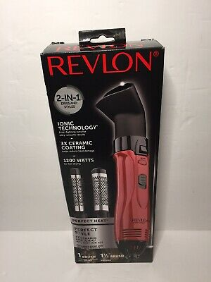 Shine Hot Air Brush Set Hair Curling Iron Styler 1200W Revlon Salon Blow - Hot Airbrush Curling Iron