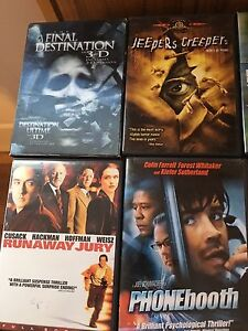 22 DVD 's $5 ea.(all for $50)..10 VHS Movies for $12