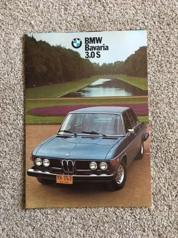 1974 BMW Bavaria 3.0S Sales Brochure Folder Excellent Original 74
