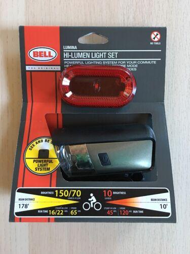 Bell 7070567 Lumina 750 Bike Light Set, Black