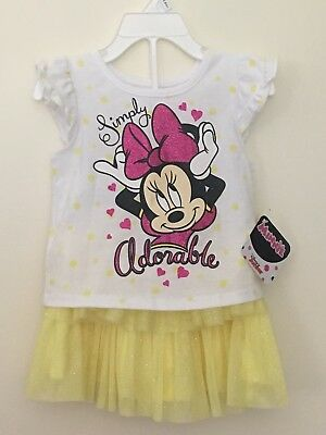 NWT's Minnie Mouse Disney Yellow Tutu Outfit Sz 2T](Disney Tutu Outfits)